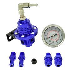 Benzindruckregler Universal Blau 4 - 8 Bar einstellbar mit Manometer AN6 & 8mm
