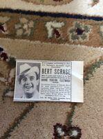 M6-3 Ephemera 1945 Advert Theatre Bert Scrase Fleetwood