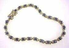 Bracciali di lusso con gemme pietre blu argento