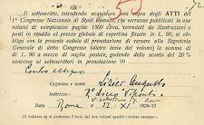 Congresso Nazionale Studi Romani Lettera Autografo Storico Augusto Lizier 1928