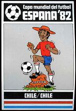 Chile  - Espana '82, 1982 World Cup Football Large Sticker (C235)