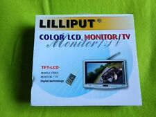 "TV ANALOGICA 7"" 16:9 12v MONITOR LILLIPUT 718 con entradas de audio y video"