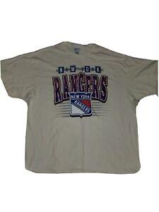 NWT '47 Brand Vintage Tubular Retro New York Rangers Logo White t-shirt Size 2XL