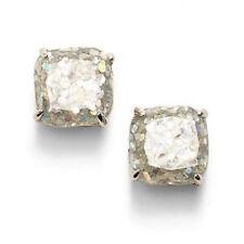 Kate Spade Glitter Square Stud Earrings Silver Opal Multi Color