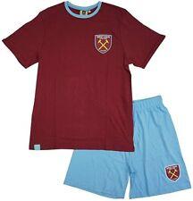 Mens West Ham Short Pyjama Set T-Shirt Pyjamas Football Pjs Gift Nightwear Gift