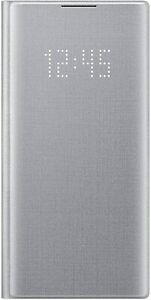 Genuine Samsung LED View Folio Smart Flip Case Cover for Galaxy Note10 - Silver