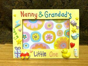 Nanny & Grandad's RUSS Ceramic Photo Frame 4 x 6 Brand New, Great Christmas Gift