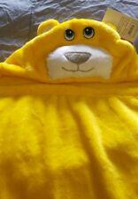jaune bébé emmailloter Couverture laine à capuche peluche douce serviette cadeau
