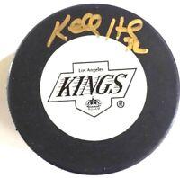 NHL  Kelly Hrudey Autograph -LA Kings Logo Autographed Hockey Puck     (HP-A-06)