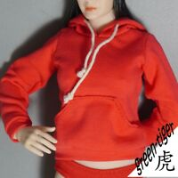 1:6 Scale ace Female figure parts - Red hoody hoodie Street style Free Ship