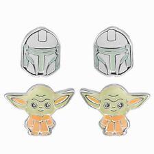 Star Wars Der Mandalorianer Helm und Die Kinder Ohrstecker Set