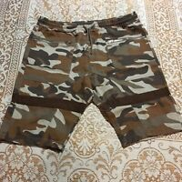 Henry & William New York Mens Size XL Shorts Cargo Camo Drawstring