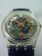 GK215 Swatch - 1996 Color Fish Skeleton Fluorescent Art Swiss Made Authentic