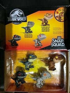 NEW Jurassic World Snap Squad - Wave 1 (Set of 4) Toys SEALED