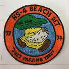 Original vintage Navy squadron Helicopter patch HS-4 BEACH DET 73-74