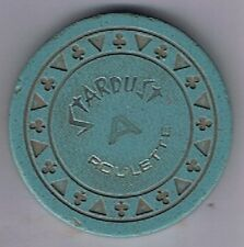 Stardust Casino Triclb Blue-Grey A Roulette Chip Las Vegas Nevada