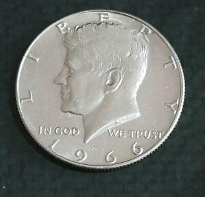 MONETA HALF DOLLARO ARGENTO 0.400 LIBERTY USA 1966  MEZZO DOLLARO KENNEDY SILVER