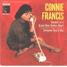 CONNIE FRANCIS--PICTURE SLEEVE + 45--(BREAKIN' IN A BRAND NEW BROKEN HEART)--PS-