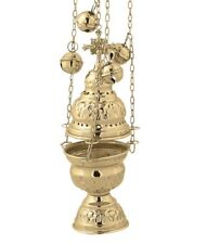 Orthodox Church Liturgy Incense Burner Bronze Thurible Censer 20cm 7.8""