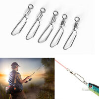 50pcs Fishing Ball Bearing Coastlock Snap Connector Fast Swivel 2#-10# Tackle E