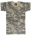 KIDS ACU Digital Camo T-Shirt US Army Hunting Camping Boys Girls Children