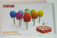 ZOKU Mini Pops Molds Make Ice Pops, Lollipops, Chocolates and Ice Cubes
