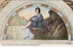 DB ART Reynolds postcard, Boy of Winander, Library of Congress, Washington, DC