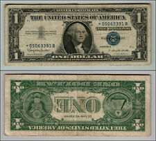 1957B STAR $1 SILVER CERTIFICATE REAL NICE NOTE CIRCULATED LOT W262