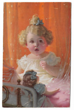 Baby Girl with doll Postcard 01.11
