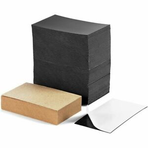 Self Adhesive Business Card Magnets with Brown Cards, Peel and Stick, 200 Pack