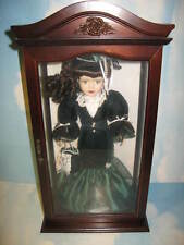Porcelain Doll in Glass and Wooden Frame..Excellent Condition..