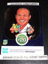 2015 NRL POWER PLAY POWER CARD PC23 MATT COOPER PLAY WELL