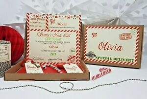 Personalised Christmas Eve Box Filled A5 Santa Letter Magic Key & Reindeer Food
