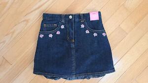 NWT Vintage Gymboree La Belle Epoque Denim Jean Skort Skirt Girls Size 5 VHTF
