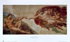 Michelangelo the creation of Man póster son impresiones artísticas imagen 32x57cm