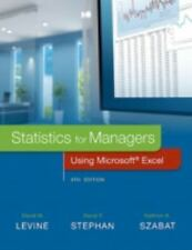 Statistics for Managers Using Microsoft Excel 8th Int'l Edition