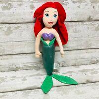 Disney Store The Little Mermaid Movie Ariel Doll Princess Plush Soft Toy