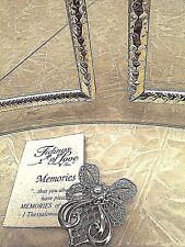 designs on wings and skirt of angel Angel Pin in silver plate with delicate