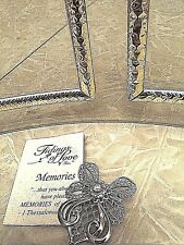 Angel Pin in silver plate with delicate designs on wings and skirt of angel