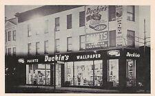 Duchin's Paints and Wallpaper Store in Elizabeth NJ Postcard