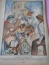 Espagne Mexique URSS persécutions contre l'Eglise dessin Print 1936