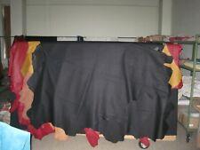 1 Lederhaut,Rindnappaleder,gedeckt schwarz  ca. 3,39 qm,1,0-1,2 mm