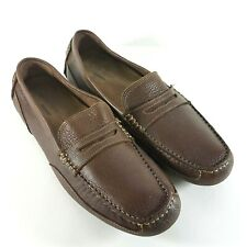 Rockport Mens Penny Loafers 11.5 M Brown Oaklawn Park Driving Shoes M76502