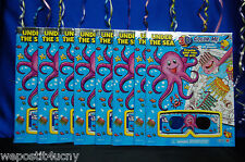 8 Under The Sea Activity Books 3 D Coloring Sea / Ocean Party Favors