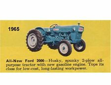 1965 Ford 2000 Tractor  Refrigerator / Tool Box Magnet Man Cave Gift Card Item