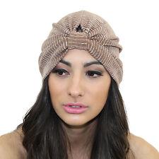 Nude Slinky Stretch Full Turban Headband Headpiece