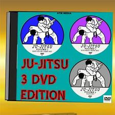 JU-JITSU 3 DVD'S ULTIMATE TRAINING LESSONS  2+ HRS DETAILED VIDEO TUTORIAL  NEW