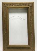 "VTG. Art Nouveau Art Deco Victorian Wood Picture Frame Fits 10 1/2""x 19"""