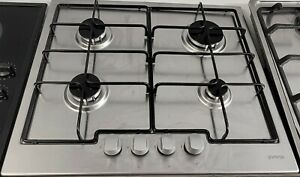USED GORENJE 60CM STAINLESS STEEL GAS HOB + FREE 3 MONTHS GUARANTEE