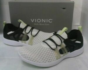NEW Vionic Women's Sky Adore Lace Up Sneaker Shoes sz 9 White/Black $159.95